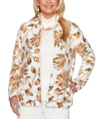 alfred dunner first frost printed zippered jacket