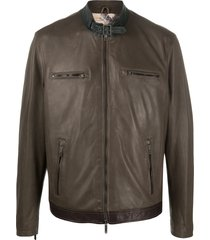 etro buckle collar jacket - green