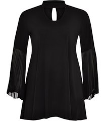 shirt wide plissé sleeve dolce
