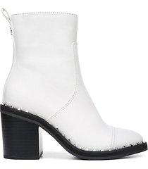 frazz studded block-heel booties