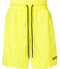 diesel nylon shorts with contrasting bands - yellow