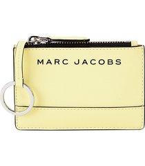 marc jacobs women's logo multi-slot pvc card case - meringue