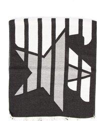 emporio armani emporio armani stripes black scarf