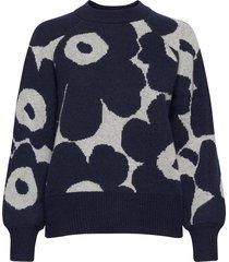 kietoa unikko knitted pullover gebreide trui blauw marimekko
