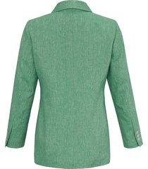 blazer met lange mouwen en 3-knoopssluiting van anna aura groen