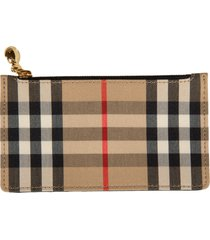 burberry check card holder