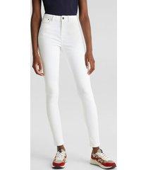 jeans skinny medium rise blanco esprit