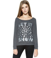 brenna let it snow l/s pullover - l black