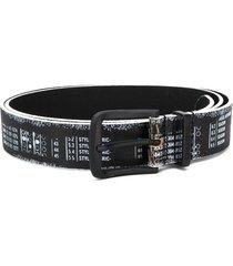 diesel printed composition belt - black