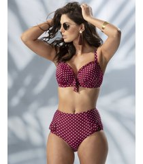 hot spots polka dot highwaisted control brief