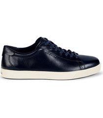 cole haan men's men's nantucket leather sneakers - peacoat - size 10
