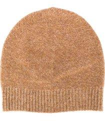 fabiana filippi fine knit beanie hat - neutrals