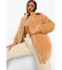 oversized gewatteerde corduroy jas, camel