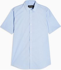 mens light blue stretch skinny shirt