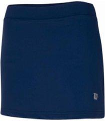 pollera azul wilson tenis