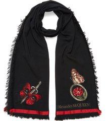'bloom' skull scarf