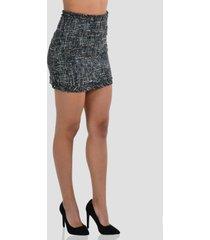 falda con borlas de mujer exotik ew172-1115-770 negro