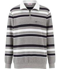 sweatshirt roger kent grijs::marine::wit