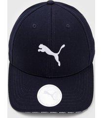 boné puma visor azul-marinho
