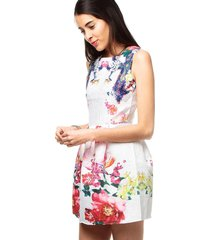 vestido multicolor flores vt-00192