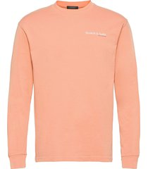 organic cotton-jersey longsleeve tee with chest print t-shirts long-sleeved rosa scotch & soda