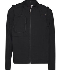 a-cold-wall front zipped pocket detail zipped hoodie