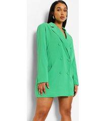 oversized getailleerde blazer jurk, bright green