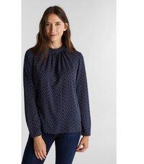 blusa estampada azul marino esprit
