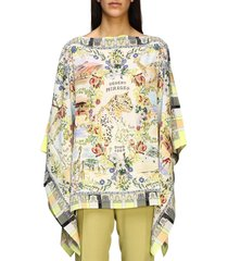 etro tunic etro silk kaftan with desert mirage print
