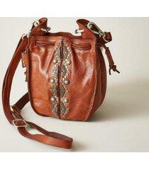 campomaggi women's magnolia bucket bag by sundance in dark brown