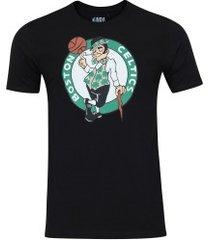 camiseta nba boston celtics big logo - masculina - preto