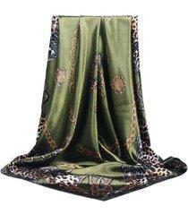 lenço de seda estampado artestore echarpe animal print feminino