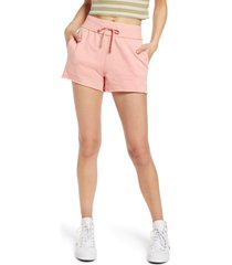 bp. french terry shorts, size small in pink pudding at nordstrom