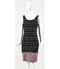 chanel silk tweed knee length sheath dress