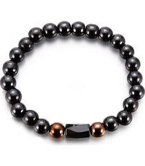 braccialetti con perline vintage braccialetti con pietre scure semplici gioielli etnici per uomini donne