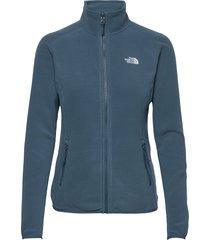 w 100 glacier full zip - eu sweat-shirts & hoodies fleeces & midlayers blauw the north face