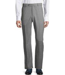 saks fifth avenue men's houston standard-fit wool pants - grey - size 32