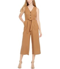 calvin klein belted cropped jumpsuit