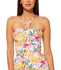 bleu by rod beattie beachy keen bandeau tankini top women's swimsuit