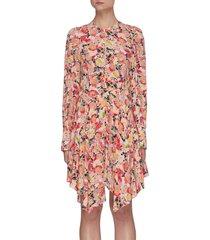 felicity' floral print silk dress