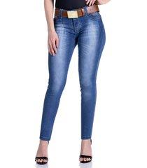 calça jeans zigma levanta bumbum azul