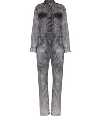 isabel marant étoile idesia faded denim jumpsuit - grey
