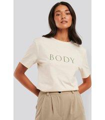 na-kd oversize t-shirt - beige