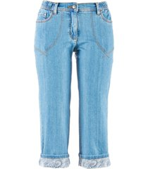 jeans elasticizzato 7/8 (blu) - bpc bonprix collection