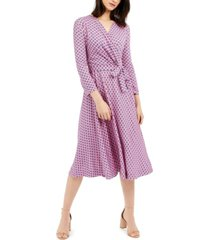 weekend max mara printed faux-wrap dress