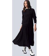 rok alba moda zwart::offwhite::grijs