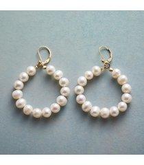 full circle pearl earrings
