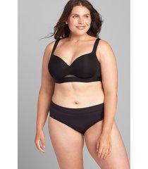 lane bryant women's comfort bliss lightly lined balconette bra 42f black