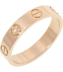 cartier 18k mini love ring gold sz: