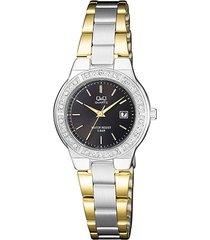 reloj para dama elegante q&q a461j402y multicolor